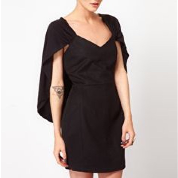 Asos GAR-DE Wool Cape Dress